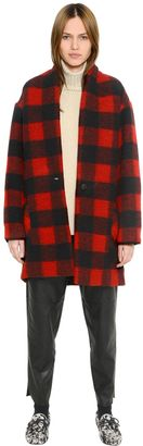 Checked Boiled Wool Blend Coat $530 thestylecure.com