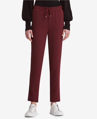 DKNY Drawstring Straight-Leg Pants