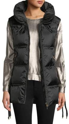 Bogner Sport Dorea Wide Down-Filled Vest w/ Lace-Up Sides