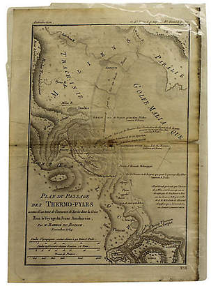 One Kings Lane Vintage Antique Map of Thermopylae