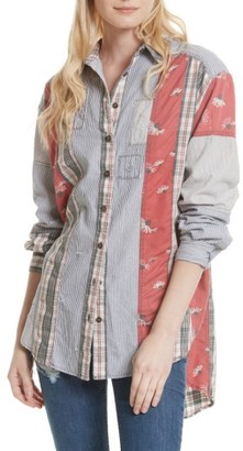 Women's Free People All Patched Up Shirt $128 thestylecure.com