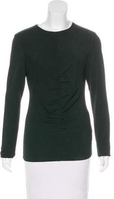 Tibi Long Sleeve Ruched Top w/ Tags