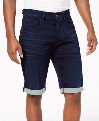 "G Star Men's 3301 11"" Inseam Denim Stretch Shorts"