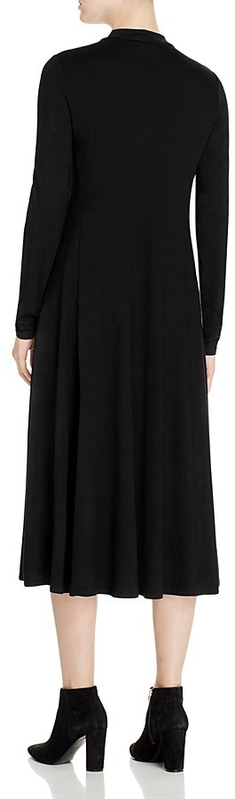 Eileen Fisher Mock Neck Midi Dress 2