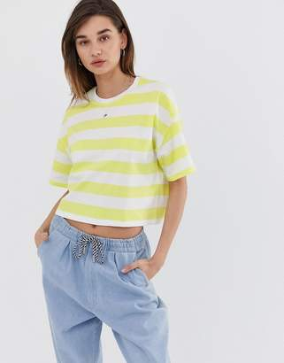Asos Design DESIGN oversized boxy t-shirt in neon stripe