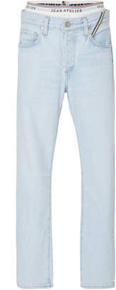 Atelier Jean Brief Mid-Rise Straight-Leg Jeans