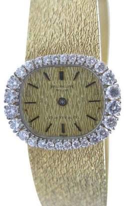 Tiffany & Co. Yellow Gold 1.30CT 18Kt Patek Philippe Diamond Watch