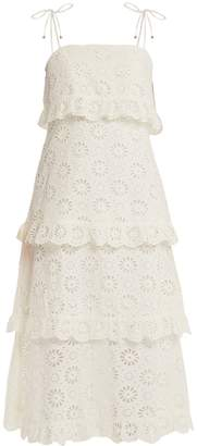 Zimmermann Lunmino daisy-embroidered cotton dress