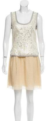 Marc Jacobs Metallic-Accented Sleeveless Dress w/ Tags