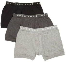 HUGO BOSS BOSS Cotton Boxer Briefs, 3-Pack $39 thestylecure.com