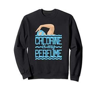 Pool' Chlorine Is My Perfume Swim & Swimmer Funny Swimming Pool Sweatshirt
