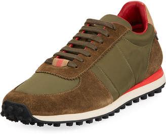 Burberry Men's Mixed Lace-Up Sneakers