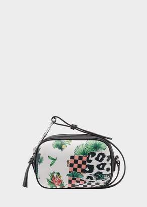 Versace Tropical Collage Safety Pin Crossbody Bag