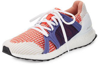 adidas by Stella McCartney Ultra Boost Running Sneaker, White/Red $230 thestylecure.com