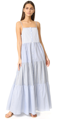 Sea Tiered Striped Dress $460 thestylecure.com