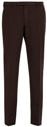 Incotex Slim Leg Cotton Blend Chino Trousers - Mens - Burgundy