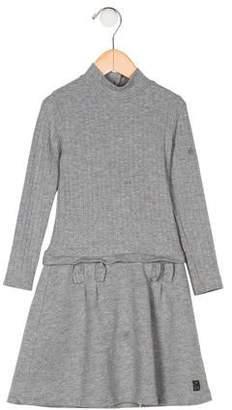 Lili Gaufrette Girls' Rib Knit Dress