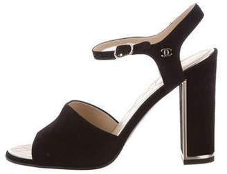 Chanel 2016 Suede CC Sandals w/ Tags