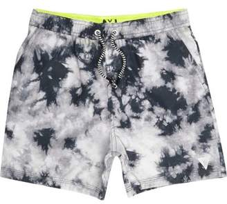 River Island Boys grey tie dye swim trunks