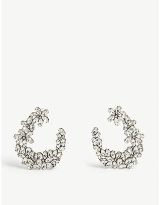 BaubleBar Evolet crystal hoop earrings