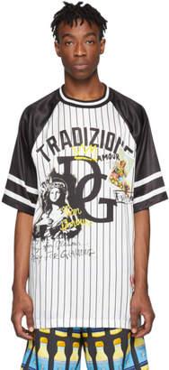 Dolce & Gabbana White and Black Tradizione T-Shirt