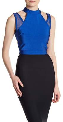 Wow Couture Mesh Back Crop Top