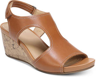 808d8f8495 Naturalizer Brown Wedge Women's Sandals - ShopStyle