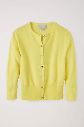 5215378955 Next Womens Pure Collection Yellow Cashmere Cropped Cardigan