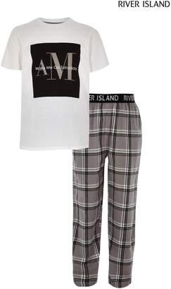 Next Boys River Island Wake Me Up On Saturday Check Pyjama Set