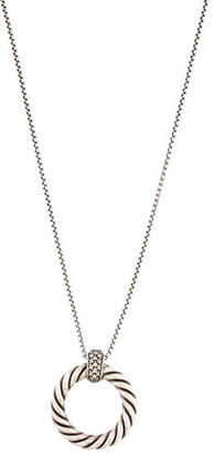 David Yurman Diamond Cable Pendant Necklace $745 thestylecure.com