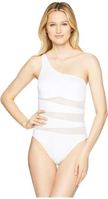 Kenneth Cole Sexy Solids One Shoulder Mio One-Piece Swimsuit Women's Swimsuits One Piece
