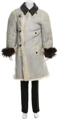 Dolce & Gabbana Distressed Shearling Coat