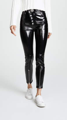 Alexander Wang Patent Leather Leggings with Snaps