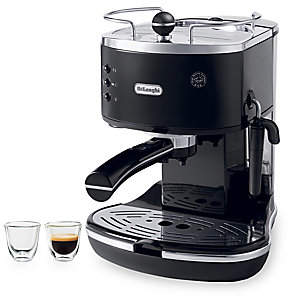 De'Longhi Delonghi Delonghi Icona 3-Piece 15-Bar Pump Driven Espresso/Cappuccino Maker & Espresso Glass Set
