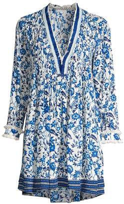 6e36c0a17927 Poupette St Barth Ola Floral Long-Sleeve Tunic Dress