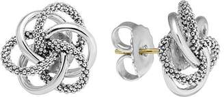 """Lagos Sterling Silver Knot """"Caviar"""" Earrings"""