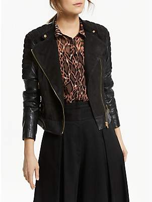 Somerset by Alice Temperley Leather Jacket, Black