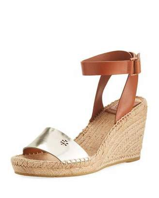 Tory Burch Bima Two-Tone Wedge Espadrille