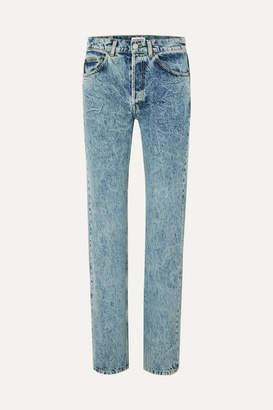 Balenciaga Faded High-rise Straight-leg Jeans - Light blue