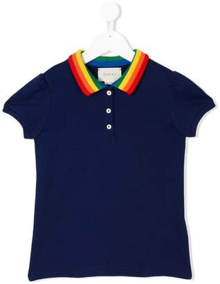 bbbc003b5 Gucci Kids embroidered butterfly polo shirt