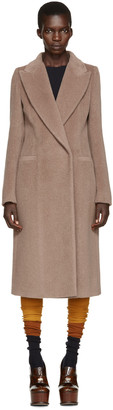 Maison Margiela Brown Alpaca Coat $2,940 thestylecure.com