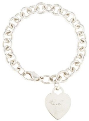 Tiffany & Co. Heart Tag Charm Bracelet $145 thestylecure.com