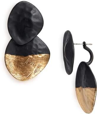 Natasha Matte Front/Back Earrings