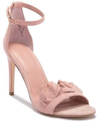 Joie Abigail Ruffled Suede High Heel Sandal
