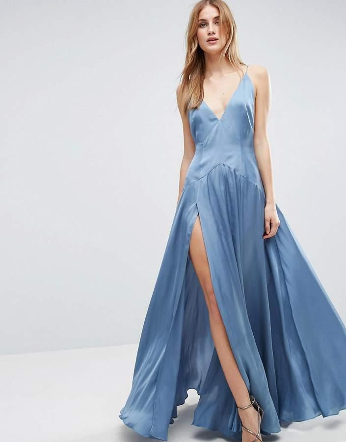 AsosASOS Cami Paneled Thigh Split Maxi Dress