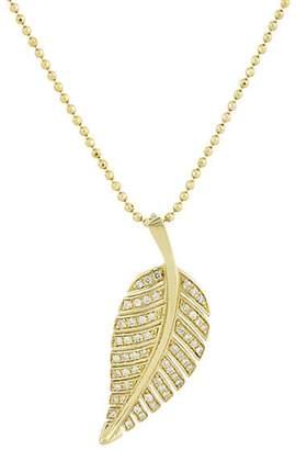 Jennifer Meyer Women's Pavé Leaf Pendant Necklace