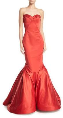Zac Posen Sweetheart Trumpet Duchess Evening Gown