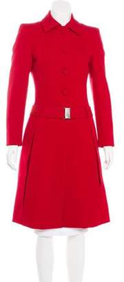 Prada Structured Long Coat