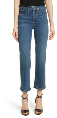 Veronica Beard Jackie Crop Straight Leg Jeans