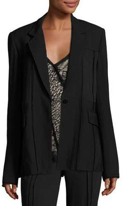 Jason Wu Seamed One-Button Jacket, Black $1,795 thestylecure.com